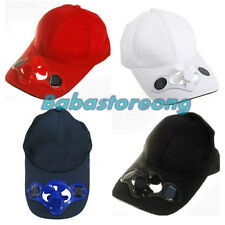 Sporting Solar Wind Power Hat Cap Cooling Cool Fan F Golf Outdoor Hiking XP