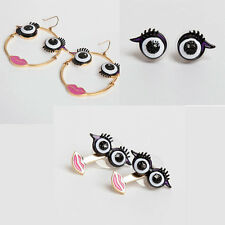 Fashion Monster With Jackets Eyes Black Eyes And Lips Stud Earrings