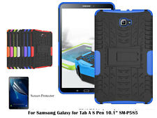 "For Samsung Galaxy Tab A 6 10.1"" S Pen Heavy DutyTPU Back Stand case/Screen Film"