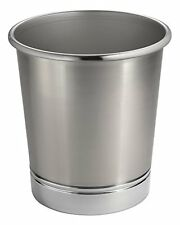 MetroDecor mdesign Steel Wastebasket Trash Can for Bathroom/Office/Kitchen