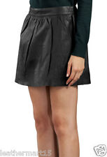 New Womens Mini Designer Skirt Genuine Soft Lambskin Leather Skirt For Women-06