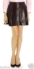 New Womens Mini Designer Skirt Genuine Soft Lambskin Leather Skirt For Women-13