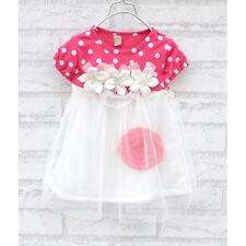 Summer Fashion Ball Gown Polka Dots Dress For Baby Girl 4 Colors UZ0136