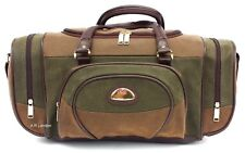 Leather Weekend Bag Travel Duffle Sports Cabin Gym PU Faux Holdall Luggage New