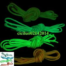 "Luminous Survival 550 Paracord Shoe Boot Laces Metal Aglets 4 Color 47"" 120CM"
