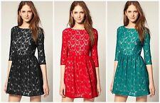 French Connection FCUK BNWT £135 Anna Vintage Retro Lace Club Party Skater Dress