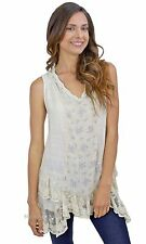 NEW Pretty Angel Clothing Chesapeake Vintage Lace Shirt Dress In Caramel 62818