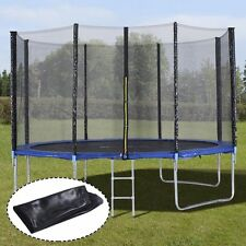 Trampoline with Safety Enclosure Padding and Ladder Round 10/12 Foot 8 Poles AL