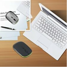 Intelligent Ultra-Slim Mini USB 2.4G Wireless WiFi Optical Mouse For PC Laptop@A