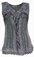 NWT Pretty Angel Clothing Mercer Women's Vintage Corset Top In Grays 67642