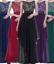Women Maxi Dress Wedding Evening Party Cocktail Bridesmaid Ball Gown Dress S-3XL