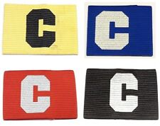 Captains Armband BIG C Arm Band for Football, Rugby, Hockey. Adult & Junior Size