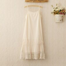 Spring Summer Women Lace Layer Sleeveless Spaghetti Strap Dress NE-844
