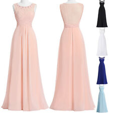 NEW Sexy Pageant Chiffon Long Evening Cocktail Bridesmaid Dress Prom Party Gowns