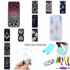 SCREEN PROTECTOR+FASHION SOFT TPU RUGGED Back Case Cover For Samsung Galaxy 2017