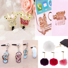 Fluffy Crystal 3.5mm Anti Dust Earphone Jack Plug Stopper Cap for Cell Phone