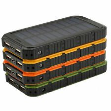 Waterproof 30000mAh Portable Solar Panel Charger Dual USB Battery Power Bank OW