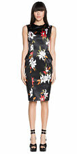 BNWT CUE Abstract Floral Fitted Dress Sz 6 and 8 RRP$295