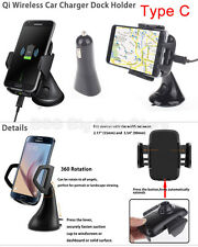 360 degree rotation Wireless Car Charger Fast Charging windsheild Mount Holder