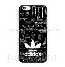 Adidas Poster Art Logo For iPhone 5s 6s 6+ 6s+ 7 7+ Print On Hard Plastic Case