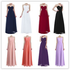 Long Chiffon Wedding Evening Formal Party Ball Gown Prom Bridesmaid Dress 4-16