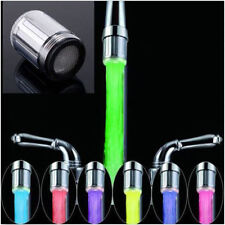 LED Water Faucet Stream Light 7 Colors Changing Glow Shower Stream Tap CA XP