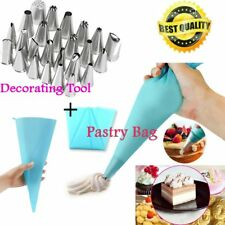 24 Pcs Icing Piping Nozzles Pastry Tips Cake Sugarcraft Decorating Tool /Bag XP