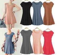 Women One-piece Slim Basic Dress Summer Dress Korean Mini Dress Short Sleeve