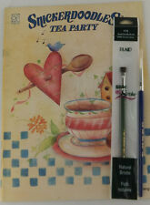 Snickerdoodles Tea Party Book Ursula Wollenberg Folk Art Tole Painting + Brushes