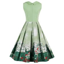 Women Summer & Spring Fashion Floral Print Short Sleeveless Vintage Dress