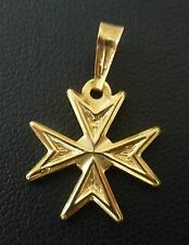 9ct 9k 375 Yellow Gold Maltese Cross Solid pendant FACTORY PRICE