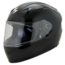 Scorpion Adult Black EXO-R2000 Solid Snell/DOT Race Full Face Motorcycle Helmet