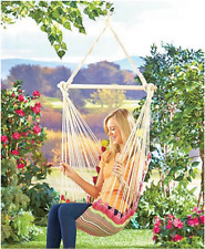 Swinging Chair Hammock Hanging Outdoor Indoor Porch Rope Patio Seat Cotton New