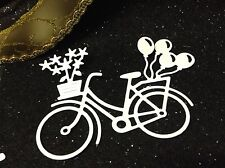 Die Cut stickers - Bycicle (Balloons & Flower) x10 - Cardmaking & Scrapbooking