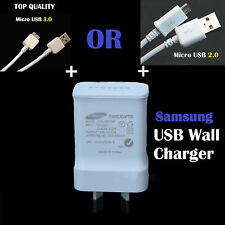 Samsung 2A AC Wall Charger + Micro USB 2.0 3.0 Data Cable Galaxy S4 S5 S6 Note 4