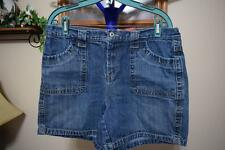 "FADED GLORY Size 12 Blue Denim 100% Cotton Casual Shorts 6"" Inseam"