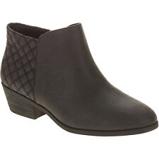 Faded Glory Women's Black Quilted Ankle Boots Size 8