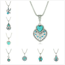 Pretty Womens Stylish Statement Tibet Ethnic Cangyin Plated Turquoise Necklace