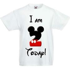 Child's Mickey Mouse Birthday T shirt Personalised! Any Age!