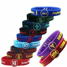 Adjustable Basketball Star Bracelet Sports Silicone Rubber Wristband Strap Cuff