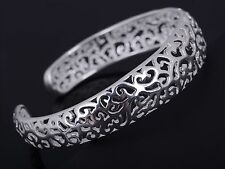 Womens Silver Plated Bracelet Cuff Adjustable Fashion Jewelry Gift