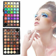 Pro 40 Colors Eye Shadow Makeup Shimmer Pigments Eyeshadow Palette + Brush Set