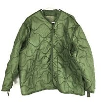 Military M65 Field Jacket Liner, Quilted Cold Weather Olive Drab Coat Army Issue