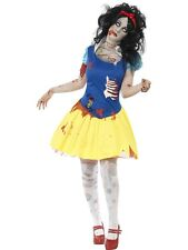 Adult Zombie White Snow Fright Ladies Halloween Party Fancy Dress Costume Outfit