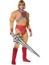 80s He-Man Masters of Universe Superhero Fancy Dress Costume Adult Outfit