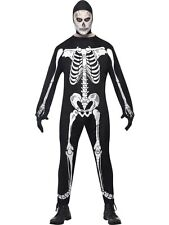 Adult Zombie Skeleton Mens Halloween Horror Fancy Dress Costume Party Outfit