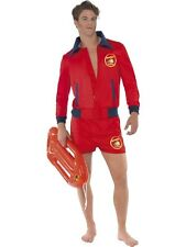 Adult Sexy 80s TV Baywatch Lifeguard Mens Fancy Dress Stag Party Costume Outfit