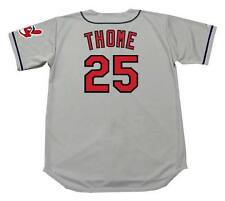 JIM THOME Cleveland Indians 1997 Majestic Throwback Away Baseball Jersey