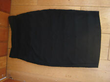MARKS AND SPENCERS LIMITED COLLECTION BLACK PINTUCK JERSEY PENCIL SKIRT 8 BNWT