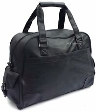 Large Leather Weekend Holdall Duffle Travel Sports Cabin Gym Bag PU Look NEW UK